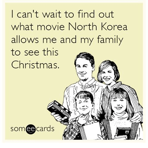What movie will North Korea let us see this Christmas