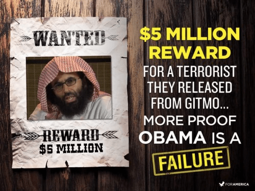 5 million reward offered for released Gitmo terrorist