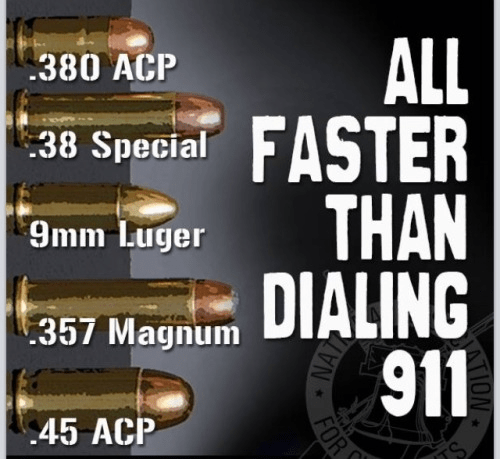 Bullet faster than dialing 911