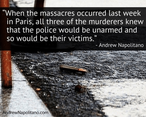 Charles Hebdo killers knew that they wouldn't face opposing guns