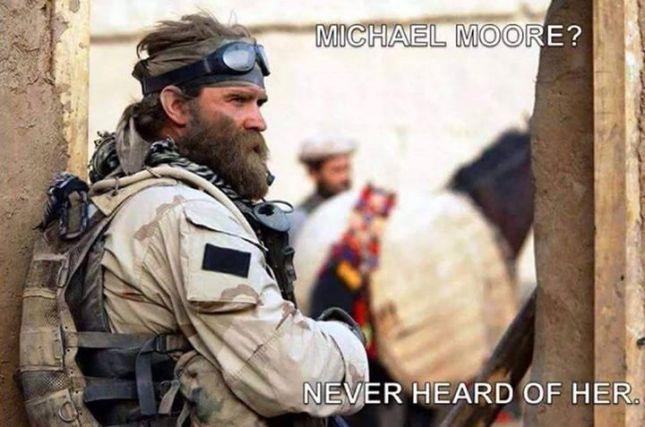 Michael Moore never heard of her