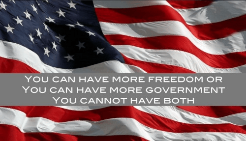 More freedom not more government