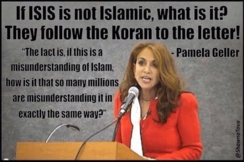 Pamela Geller on ISIS being Islamic