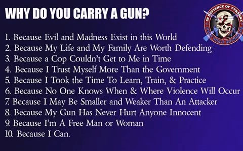 Reasons to carry a gun