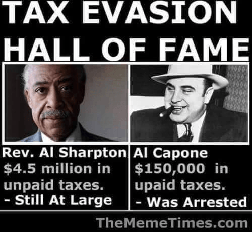 Tax evasion hall of fame sharpton v capone