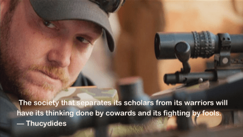 Thucydides on separating warriors from scholars
