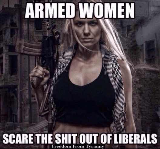 Armed women scare liberals