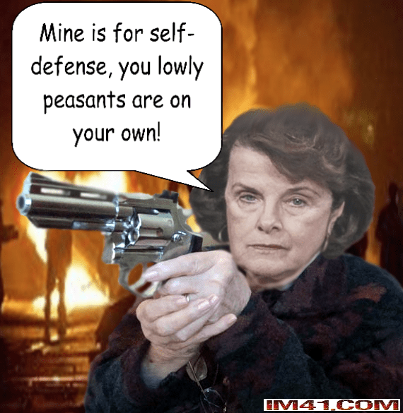 Dianne Feinstein's double standard on guns