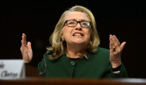 Hillary Clinton testifying about Benghazi