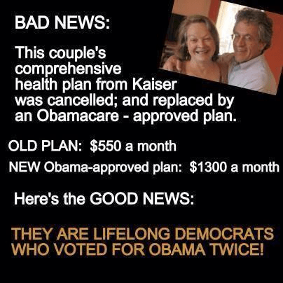 Lifelong Democrats got screwed by Obamacare