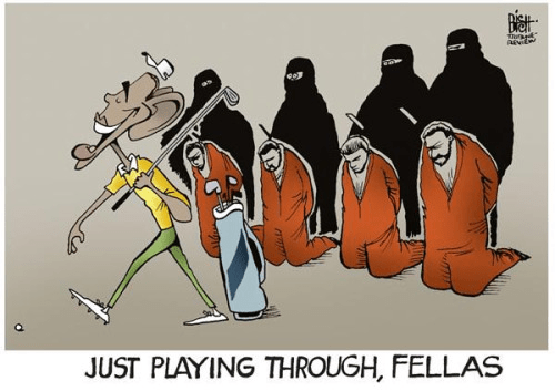 Obama playing golf executions