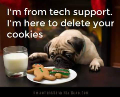 Tech support here to delete cookies