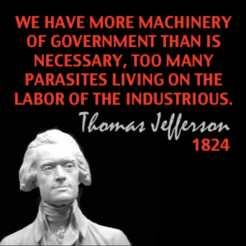 Thomas Jefferson on parasites and government