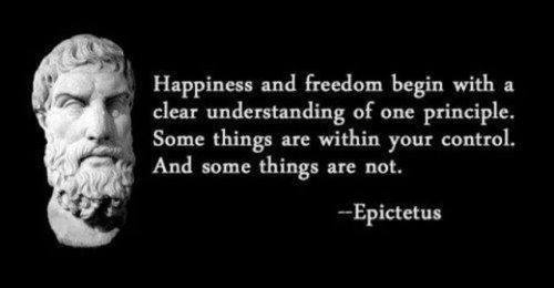 Epictetus some things in control others no