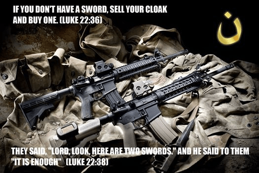 Even Bible says people should be armed