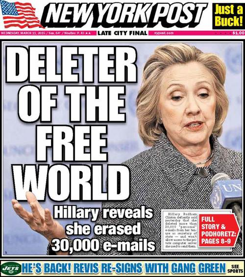 Hillary Clinton Deleter of the free world