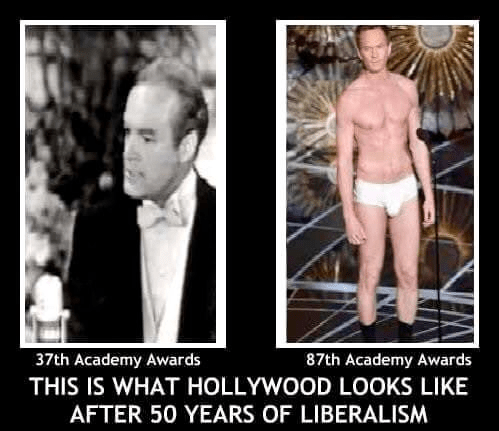 Hollywood Academy Awards after 50 years of liberalism