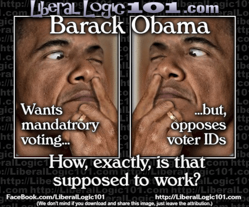 Obama Mandatory Voting Voter ID