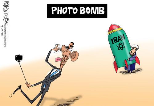 Obama photobomb Iran real bomb