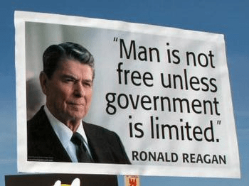 Reagan Man free only if government limited