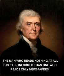 Thomas Jefferson on newspapers