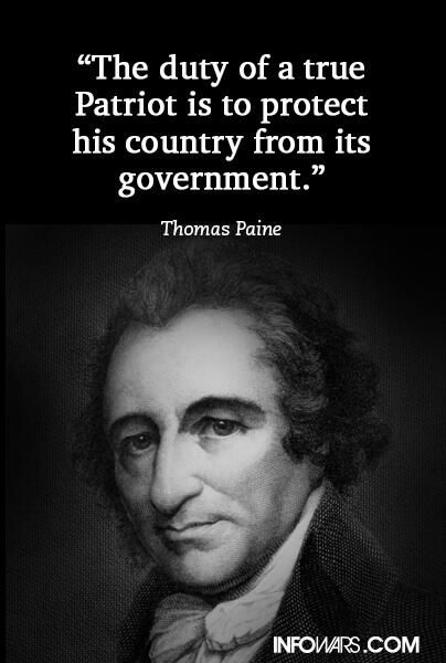 Thomas Paine on Patriots and government
