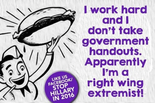 Work hard no welfare right wing extremist