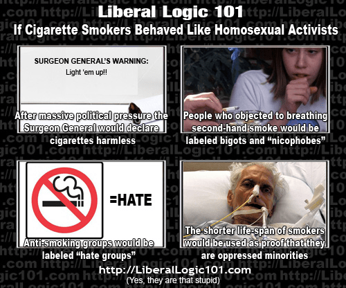 Cigarette lobby gay lobby