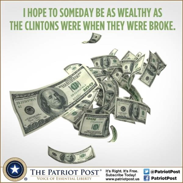 Clintons wealth