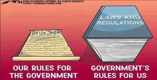 Constitution versus government laws