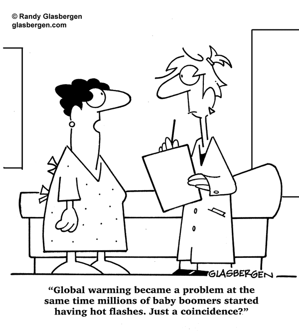 Global warming hot flashes