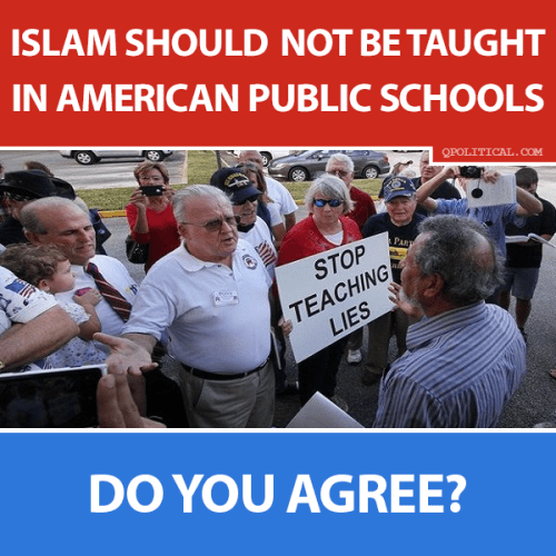Islam shouldn't be taught in schools