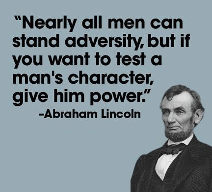 Lincoln on character power and adversity