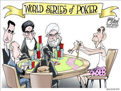 Obama plays poker with the world's bad guys