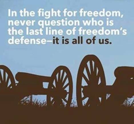 We are the last defense against tyranny