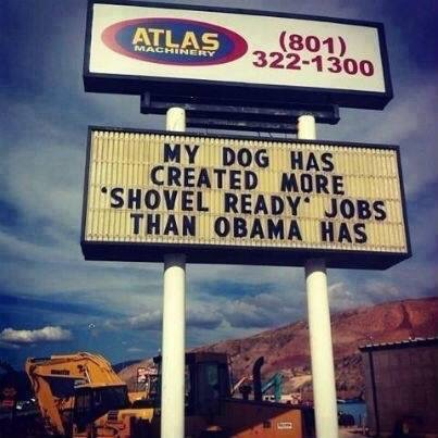 Dog shovel ready dogs Obama