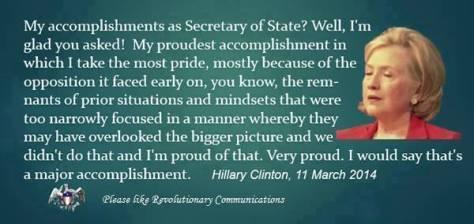 Hillary speaks nonsense