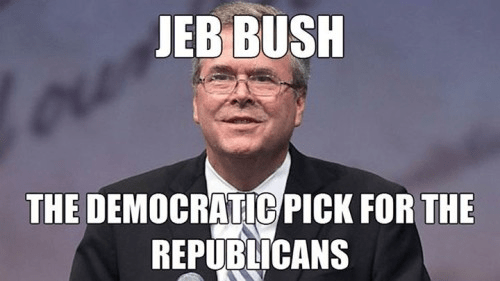 Jeb Bush Democratic pick for Republicans