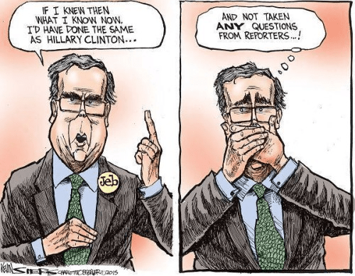 Jeb Bush keeping mouth shut