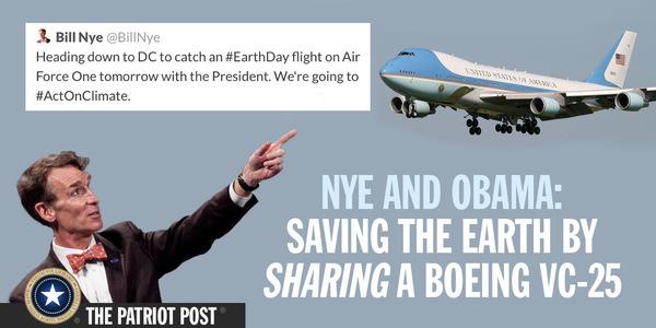 Nye Obama Airplane Climate Change