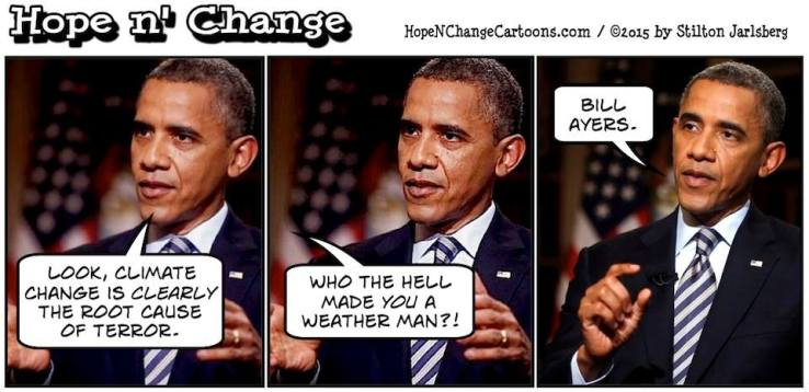 Obama Bill Ayers Weatherman Climate Change