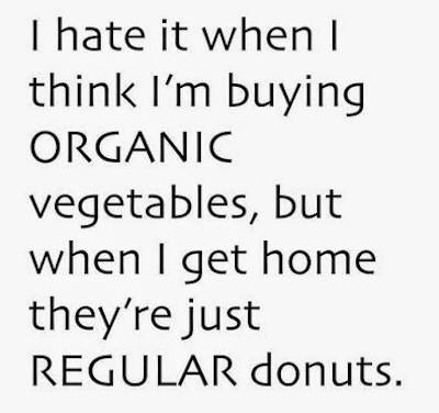 Organic vegetables and donuts