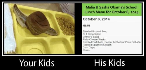 School lunches Obama kids
