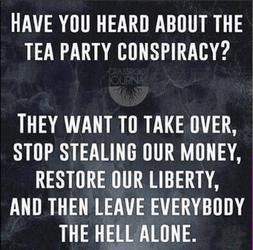 Tea party conspiracy