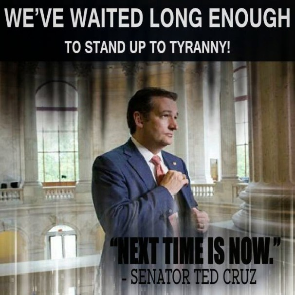 Ted Cruz stands up to tyranny