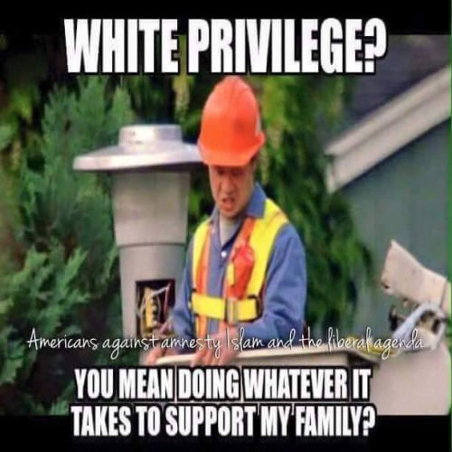 White privilege often equals hard work