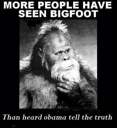 Bigfoot and Obama lies