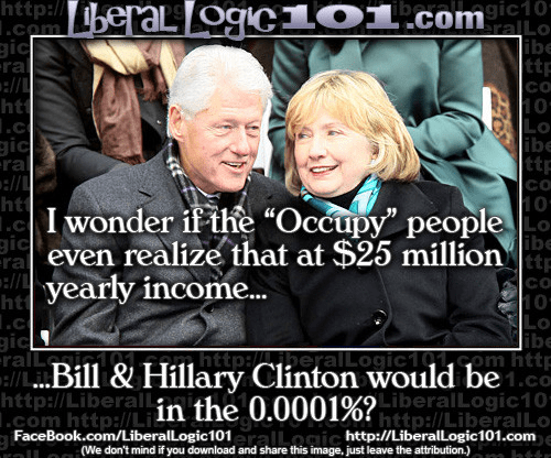 Bill Hillary top percenters