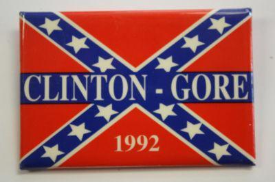 Clinton Gore confederate flag pin