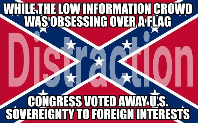 Confederate flag distracts from TPP